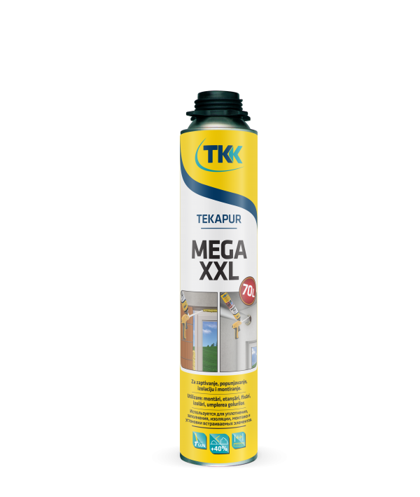 Профессиональная летняя монтажная пена TKK Tekapur Mega XXL 65 L, 850 мл