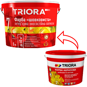 Акриловая краска Triora шелковисто-матовая, 3 л