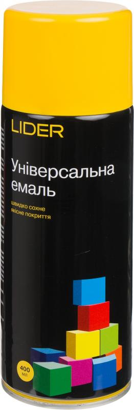 Универсальная эмаль Lider 400 мл, желтая №1023