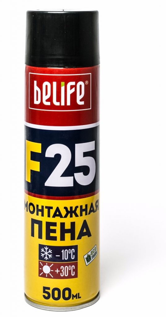 Ручная монтажная пена BeLife F25 L, 500 мл