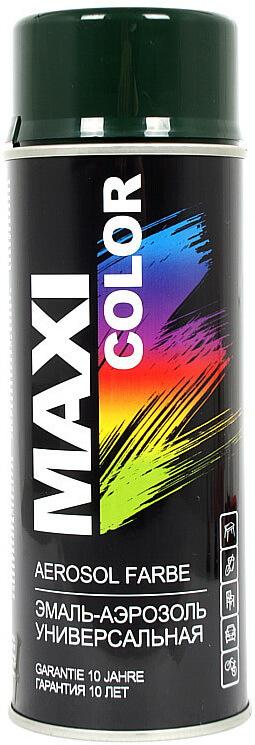 Универсальная аэрозольная эмаль Maxi Color 400 мл, Зеленая елка RAL 6009