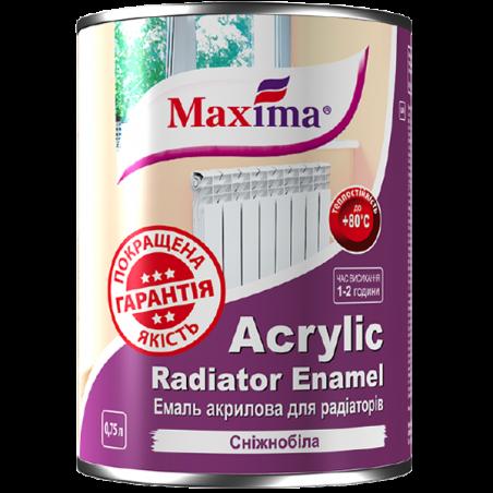 Эмаль акриловая для радиаторов Maxima белая, 0.75 л