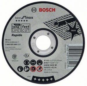 Отрезной круг Bosch Inox 125×2 мм, 2608600094