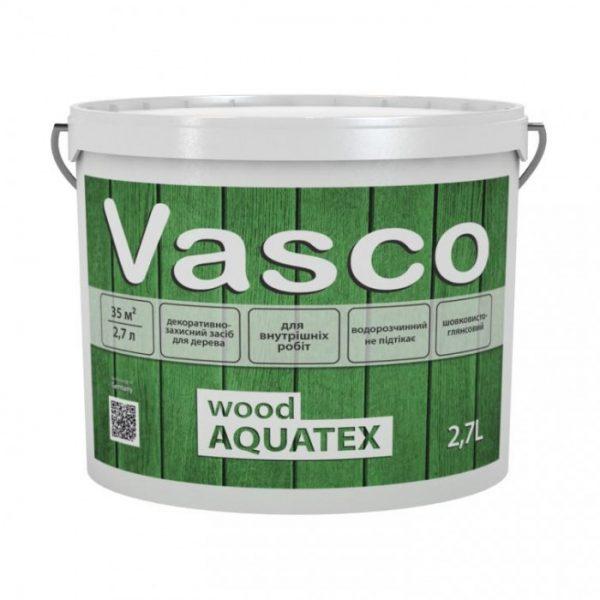 VASCO WOOD AQUATEX Белый,  2.7 л