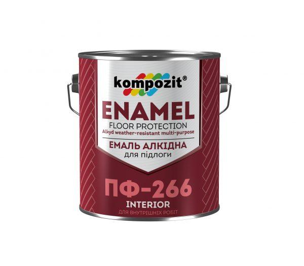 Эмаль для пола ПФ-266 Kompozit желто-коричневая, 2.8 кг