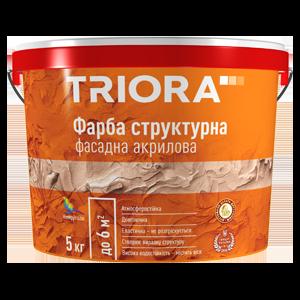 Краска структурная фасадная акриловая Triora, 15 кг
