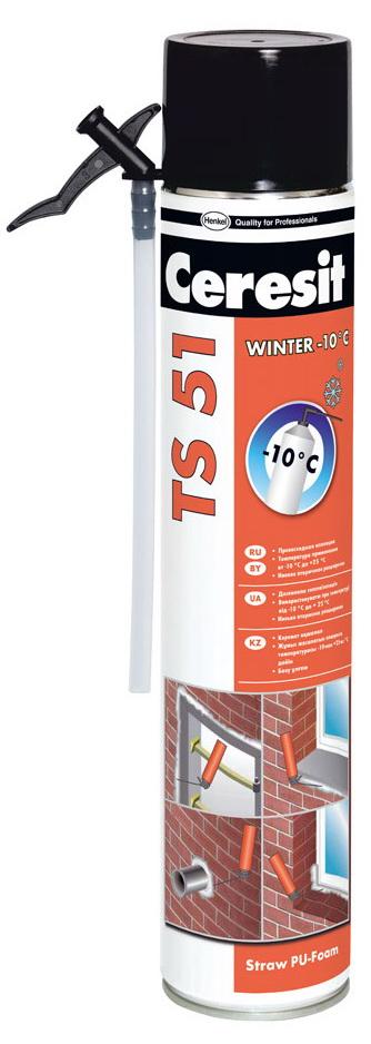 Ручная зимняя монтажная пена Ceresit TS 51, 750 мл