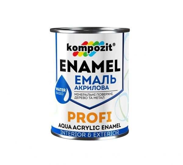 Эмаль акриловая PROFI Kompozit черная глянцевая, 0.8 л