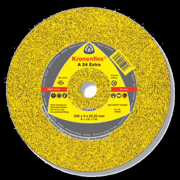 Круг шлифовальный по металлу Kronenflex A24 Extra 150X6X22,23