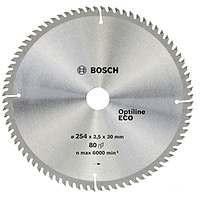 Циркулярный диск Bosch 254x30x80 Optiline ECO