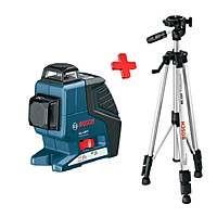 Линейный лазерный нивелир Bosch GLL 2-80 P 1 штатив BS 150, 0601063205