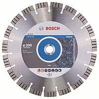 Алмазный отрезной круг Bosch Best for Stone300x22,23