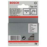 1000 скрепок Bosch 10мм Т53, 2609200216