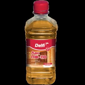 Лак для наружных и внутренних работ ПФ-110 Delfi, 0.5 л