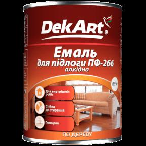 Эмаль для пола ПФ 266 DekArt желто-коричневая, 0.9 кг