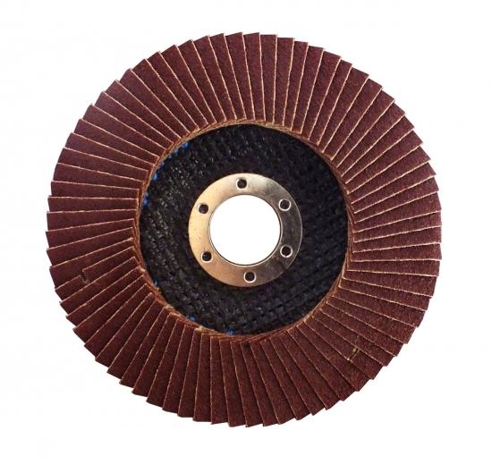 Круг лепестковый коничный – 125х22,2 P80, Т29 (WERK)