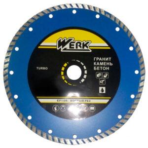 Алмазный диск Werk Turbo WE110111 (125x7x22.225 мм)
