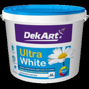 Краска для стен и потолков Ultra White DekArt матовая, 1 л